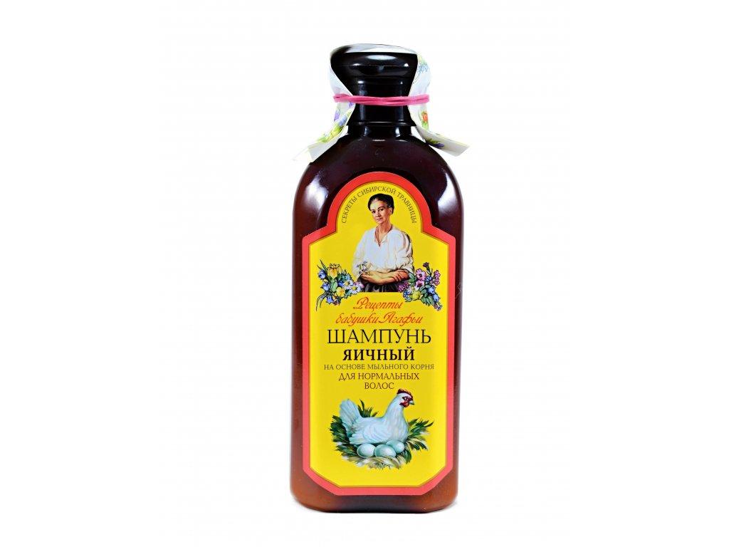 Šampón na báze vaječného žĺtku a mydlice lekárskej pre normálne vlasy (bez parabénov) - Babička Agafia - 350ml