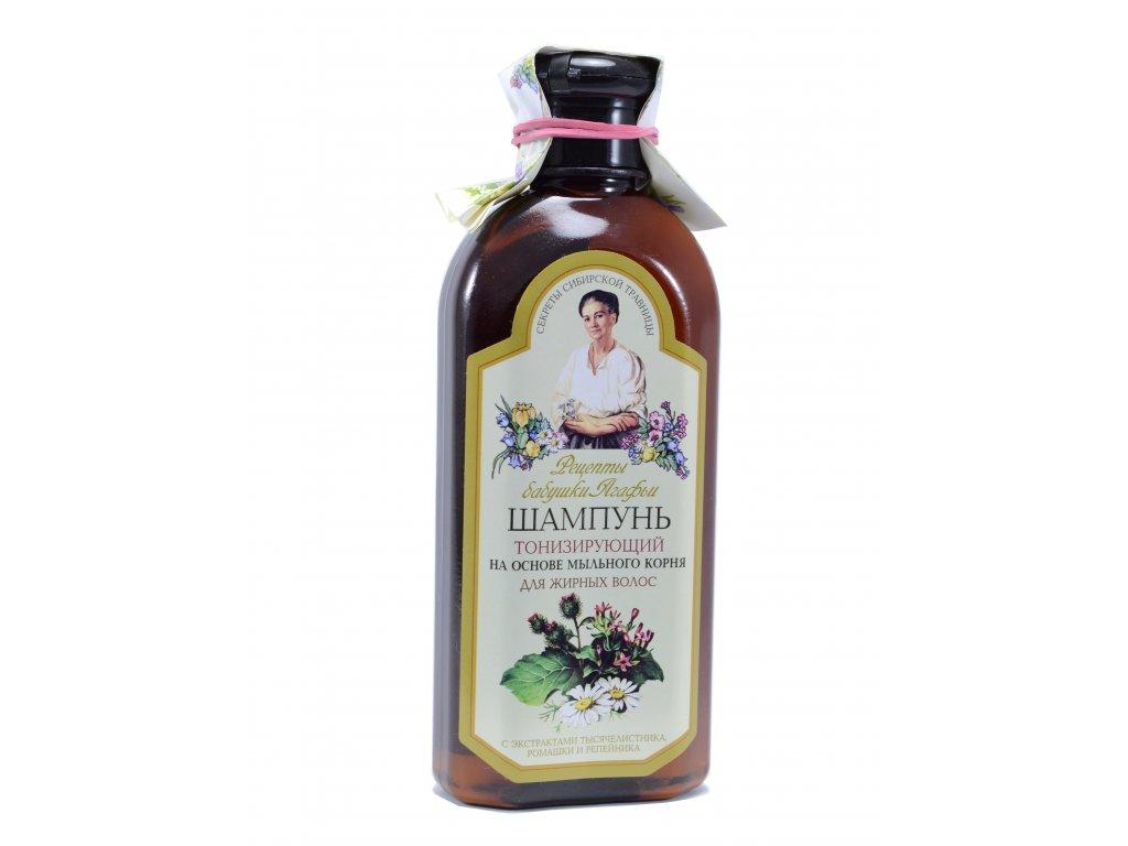 Šampón tonizujúci pre mastné vlasy - Babička Agafa - 350ml