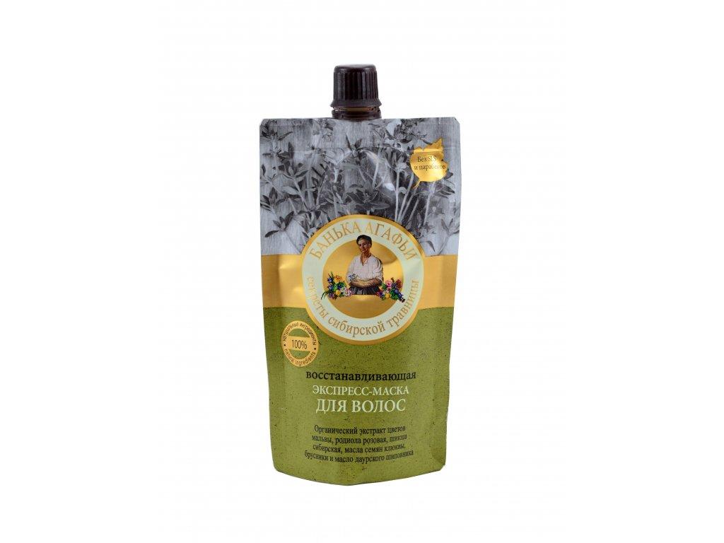 Prírodná vlasová maska s extraktom rhodioly - Babička Agafia - 100ml