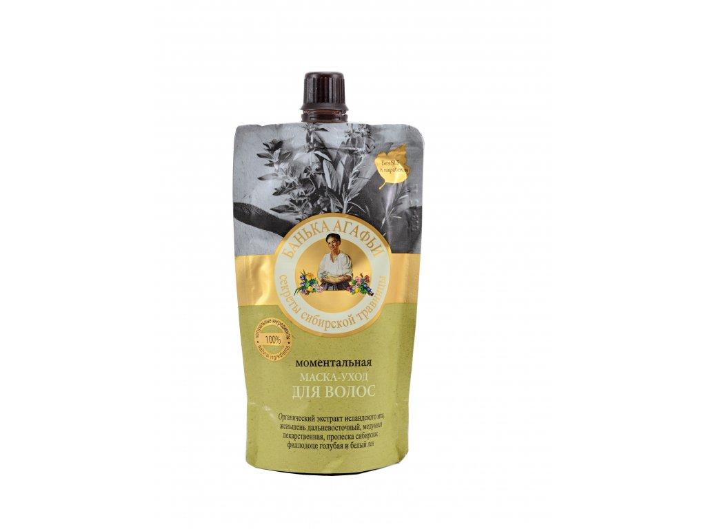 Prírodná ženšenová vlasová maska - Babička Agafia - 100ml