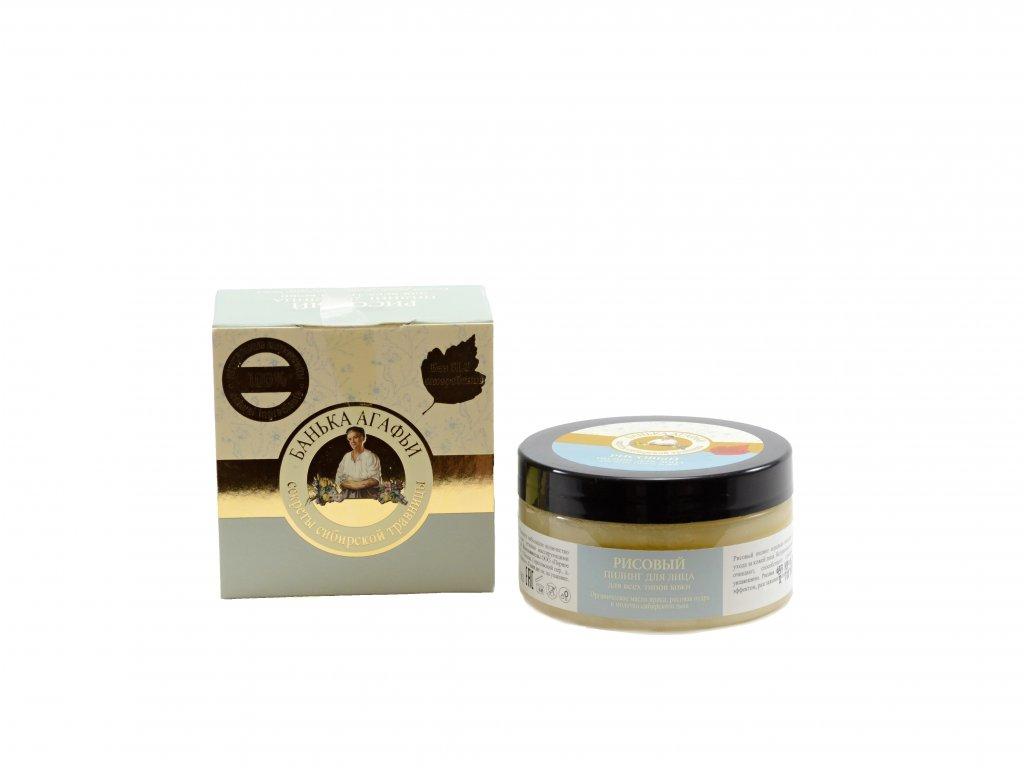 0433 Babička Agafa Ryžový peeling na tvár pre všetky typy pokožky 100 ml