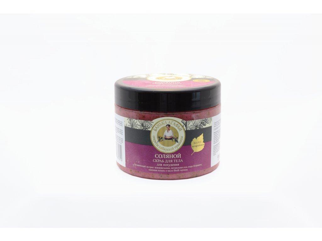 Babička Agafa Soľný telový peeling - 300 ml