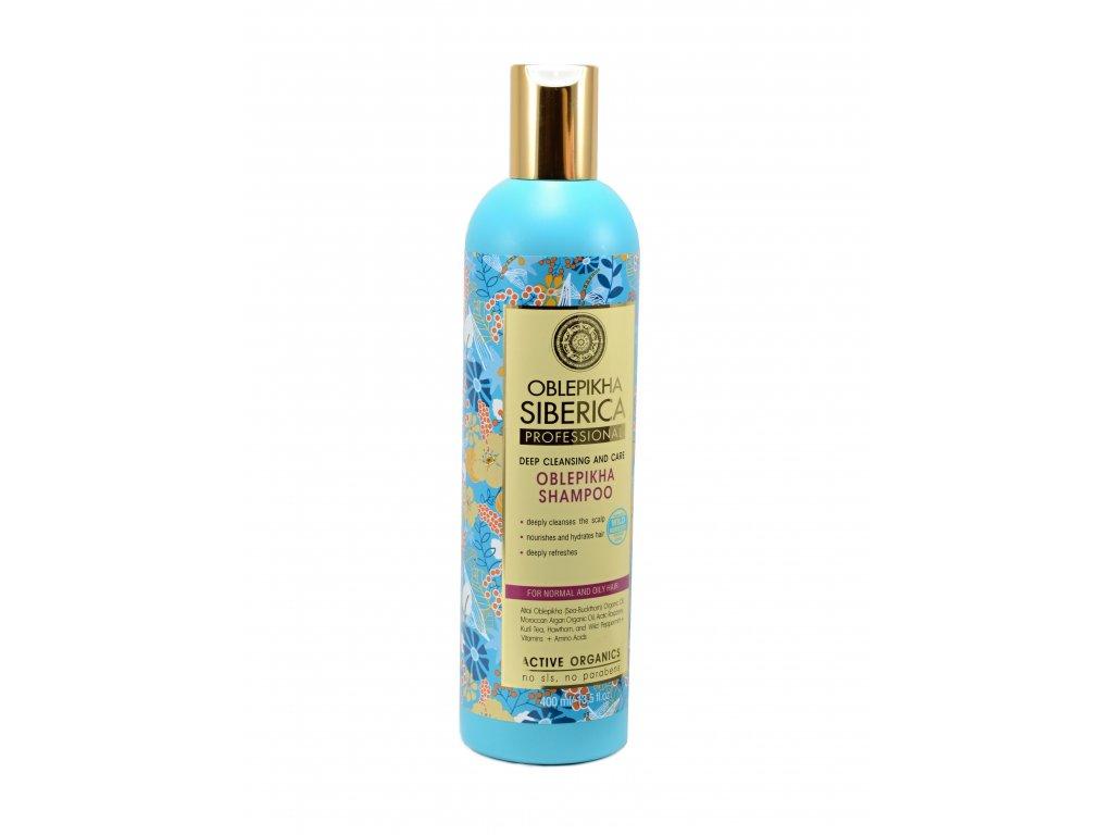 Professional – rakytníkový šampón pre mastné a normálne vlasy pre dôkladné očistenie a starostlivosť - Natura Siberica - 400 ml