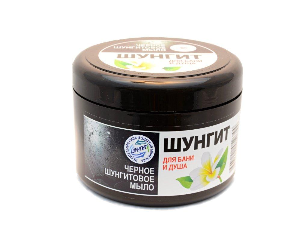 Čierne šungitové mydlo do kúpeľa i sprchy - Fratti - 500 g