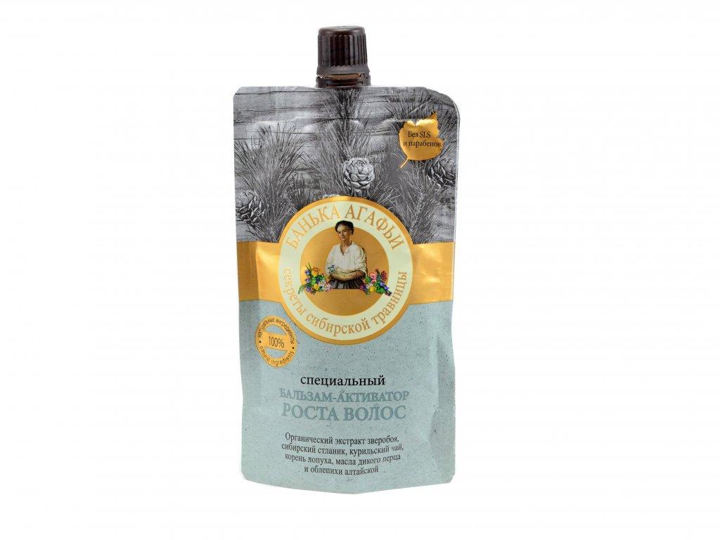 Vyživujúca vlasová maska- aktivátor rastu vlasov z extraktu borovice horskej a sibírskeho ženšenu - Babička Agafa - 100ml