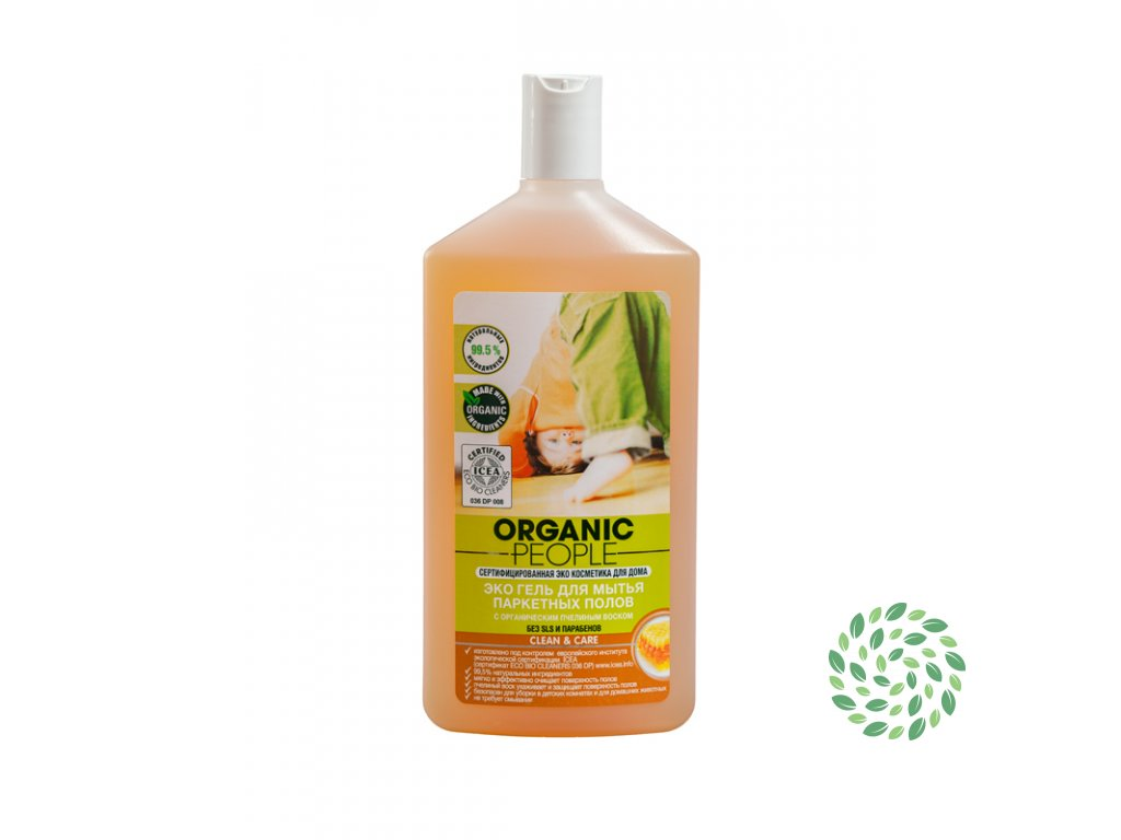 Organic People Eco čistiaci gél na parkety so včelím voskom- 500ml