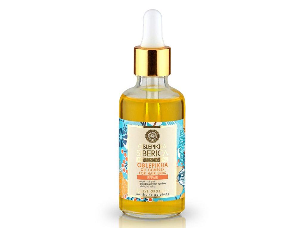 Natura Siberica Professional – rakytníkový organický olejový komplex na končeky vlasov - 50 ml