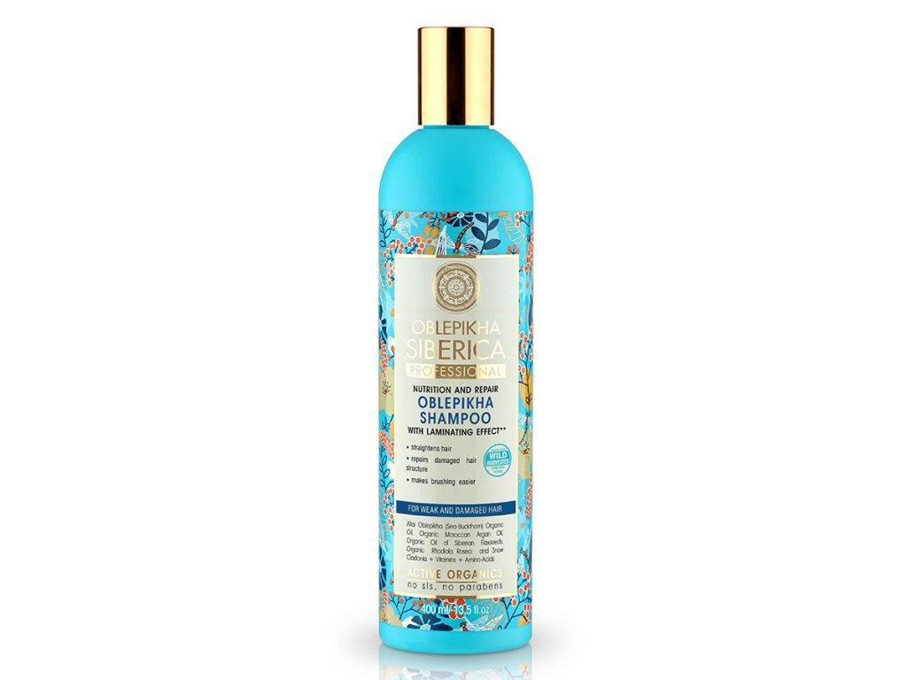 Professional – rakytníkový šampón s efektom laminovania pre oslabene a zničené vlasy - Natura Siberica - 400 ml
