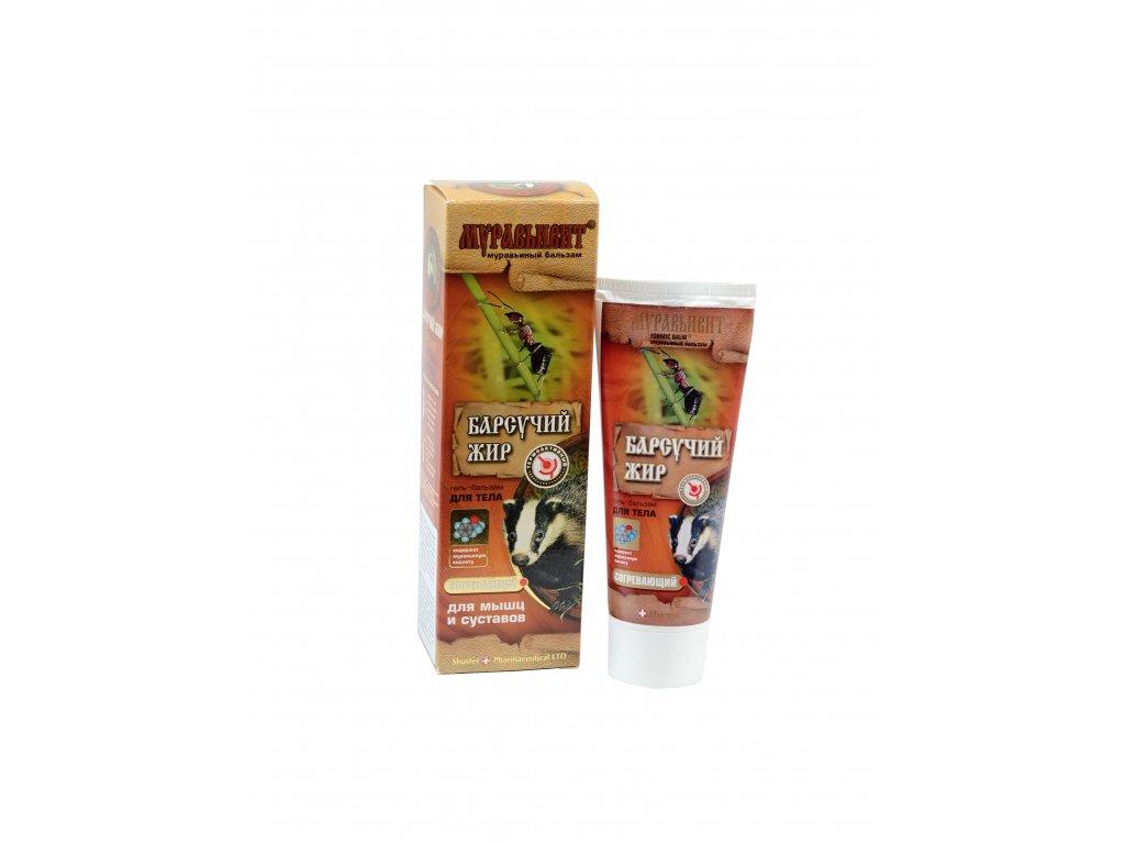 Shuster Gél balzam s mravčím a jazvečím tukom - prehrievajúci na svaly a kĺby 70 g