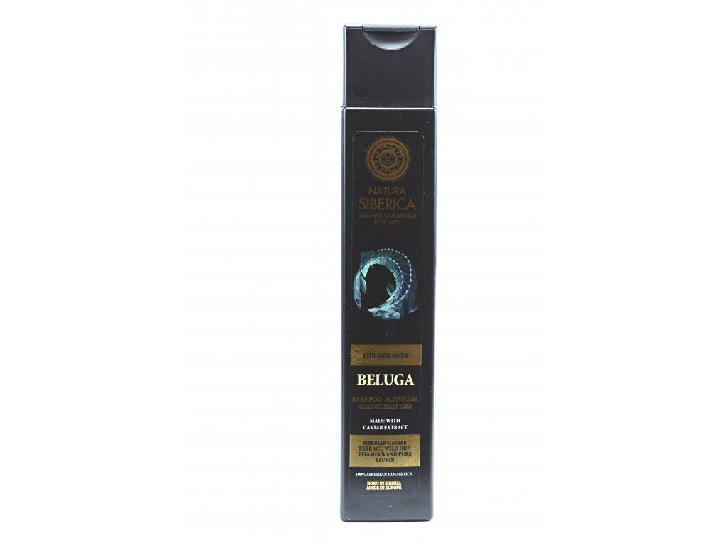 "Men Šampón aktivátor proti vypadávaniu vlasov ""Beluga"" - Natura Siberica - 250 ml"