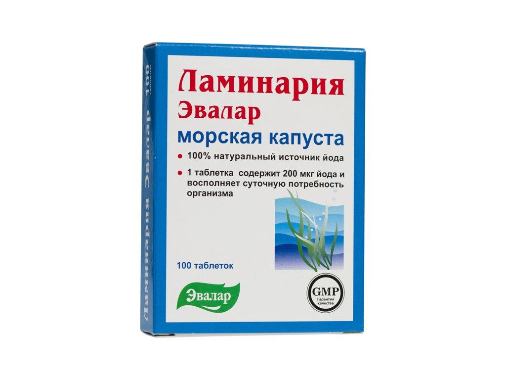 Laminária (morská riasa) - Evalar - 100 tabliet/0,2g