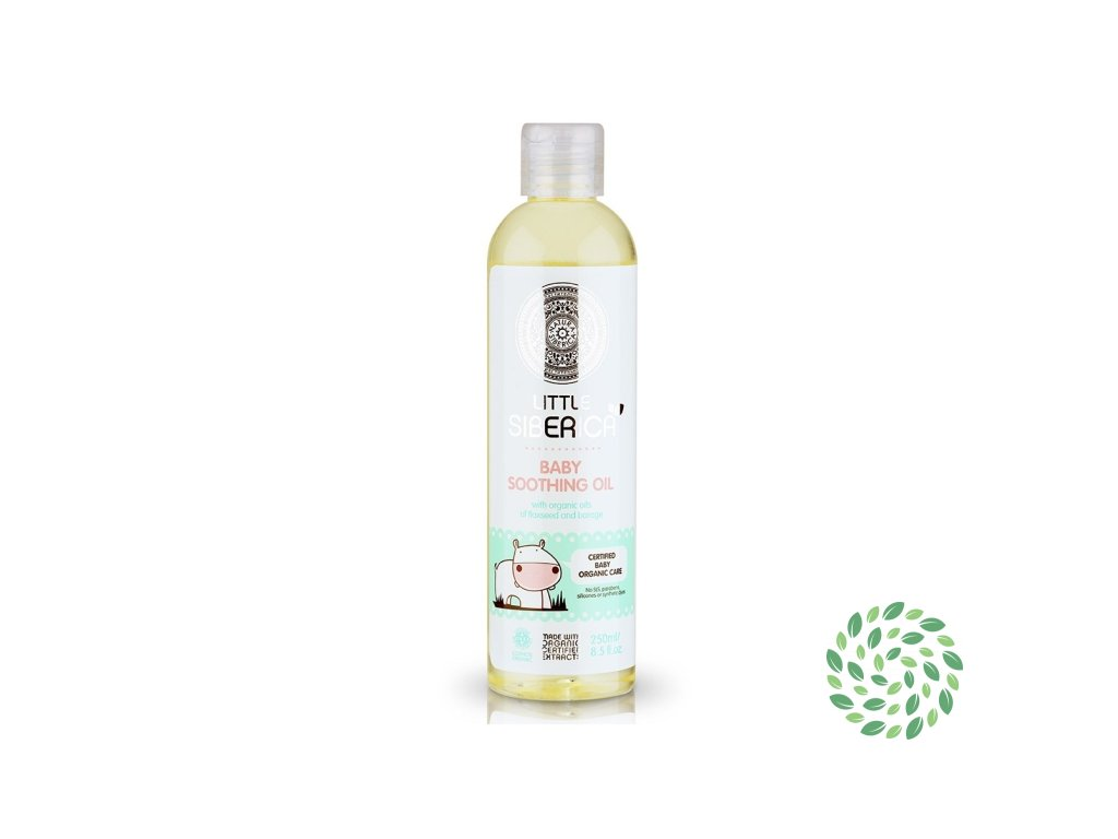 Detský hojivý olej s prírodným ľanovým a borákovým olejom - Little Siberica - 250 ml