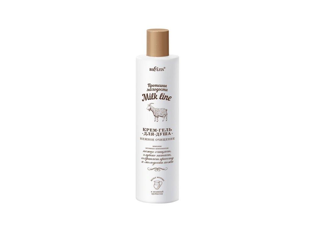 Belita - Milk Line - Jemne čistiaci sprchový gél s PROTEÍNMI MLADOSTI - 400 ml