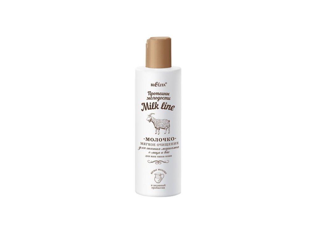 Belita - Milk line - Jemné odličovacie mlieko pre všetky typy pleti s proteínom mladosti - 200 ml