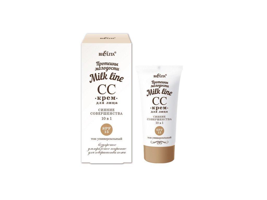 Belita - Milk Line - Rozjasňujúci CC krém 10v1 SPF15, 30ml