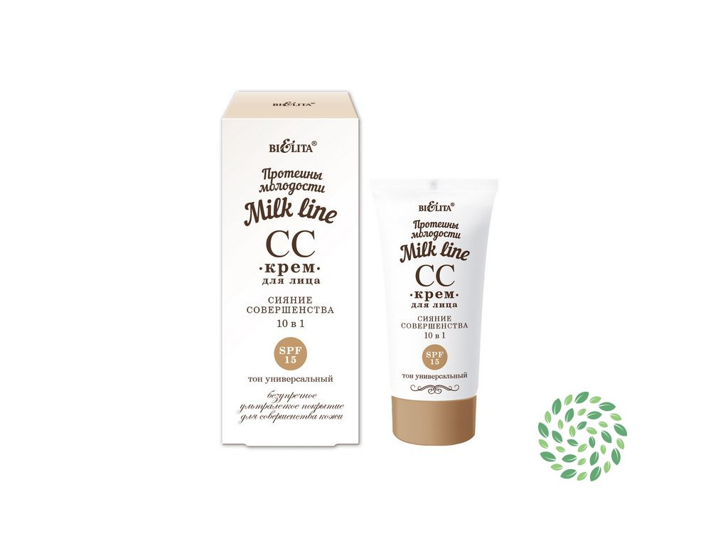 Rozjasňujúci CC krém 10v1 SPF15 - Milk Line - Belita - 30ml