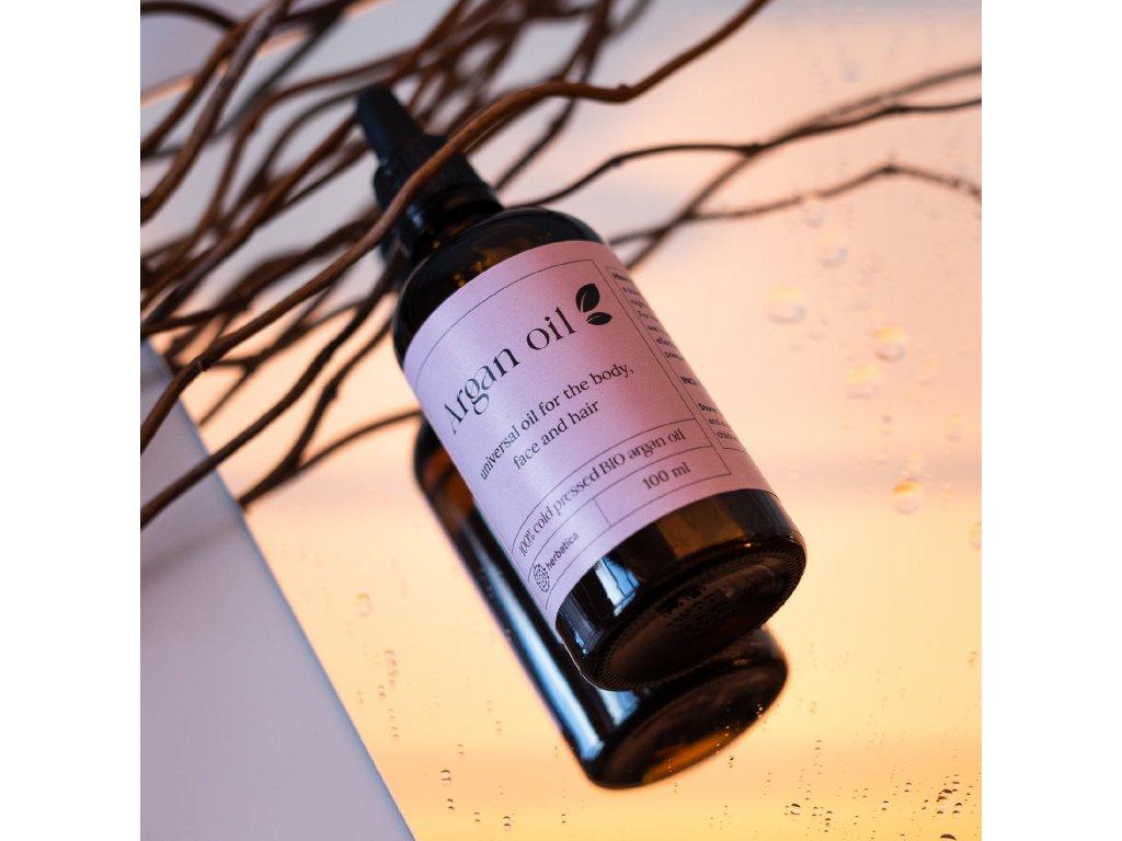 Arganový olej 100% BIO prírodný, za studena lisovaný - Herbatica