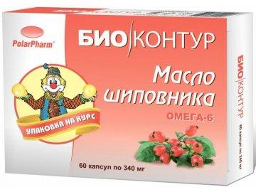 Šípkový olej v kapsuliach - 60 kapsúl - BIO KRUH - 340 mg