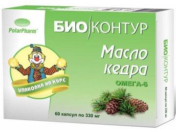 Cédrový olej v kapsuliach - 60 kapsúl - BIO KRUH - (330 mg)