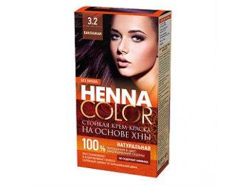 Fitokosmetik Krémová farba na vlasy Henna color 3.2 - BAKLAŽÁN 115ml