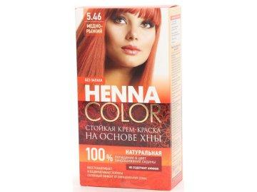 Krémová farba na vlasy Henna color  5.46 MEDENO – RYŠAVÁ - Fitokosmetik - 115ml