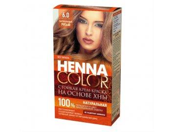 Krémová farba na vlasy Henna color  6.0 PRÍRODNÁ HNEDÁ - Fitokosmetik - 115ml