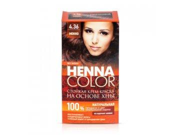 Krémová farba na vlasy Henna color 4.36 MOKKA - Fitokosmetik - 115ml