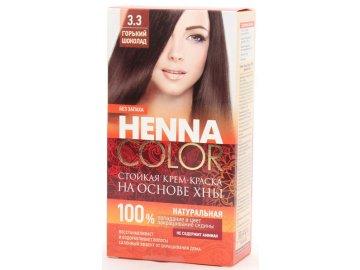 Krémová farba na vlasy Henna color 3.3 HORKÁ ČOKOLÁDA - Fitokosmetik - 115ml