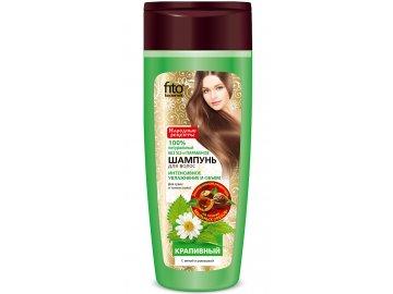 Fitokosmetik  Žihľavový šampón na suché a tenké vlasy s mätou a rumančekom  270 ml
