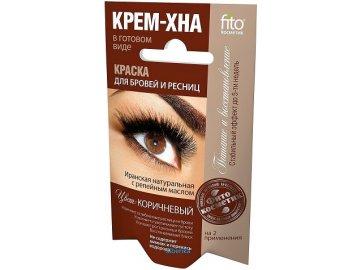Fitokosmetik  Krémová farba s hennou na obočie a riasy HNEDÁ 2x2 ml