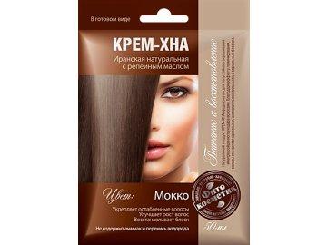 Krémová henna na vlasy s lopúchovým olejom odtieň MOKKA - Fitokosmetik -  50 ml