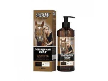 Koňská sila - Šampón s kolagénom pre zafarbené a poškodené vlasy s biotínom z kolagénu, lanolínu a 500 ml