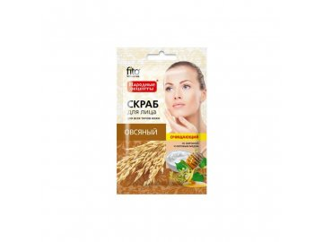 Čistiaci ovsený peeling na tvár pre všetky typy pleti - Fitokosmetik - 15 ml