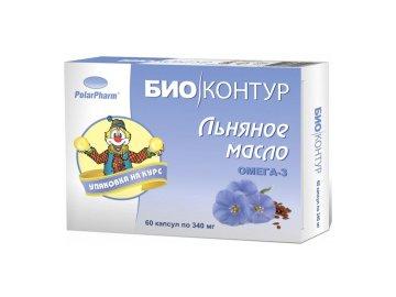 Olej z ľanových semien v kapsuliach - 60 kapsúl - BIO KRUH - (340mg)