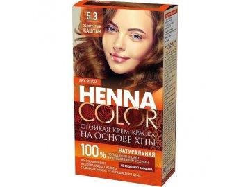 Fitokosmetik Krémová farba na vlasy Henna color Zlatý gaštan 4670017927681
