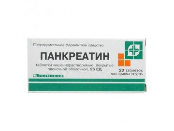 Pankreatín - komplex enzýmov - Biosintez - 60 tabliet
