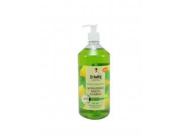 Prírodné domáce mydlo s mätou a citrónovým olejom 3v1 - Babička Agafa -1000ml