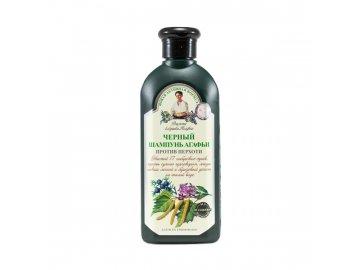 Čierny bylinný šampón  proti lupinám - Babička Agafa  350 ml