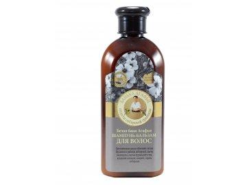 Babička Agafa Biely kúpeľ - Šampón- balzam na vlasy- 350ml