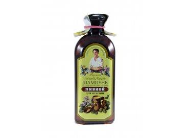 Šampón pre mužov s pivným droždím a mydlicou - Babička Agafia - 350ml