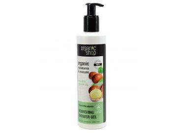 Organic Shop- Vyživujúci organický sprchový gél z makadamiových orechov- 280ml