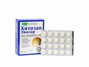 Evalar- Chitosan- lapač tukov- 100 tabliet