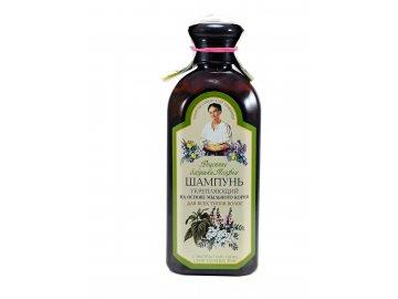 Posilňujúci čistiaci šampón na báze mydlice lekárskej, žihľavy a puškvorca obyčajného - Babička Agafa - 350ml