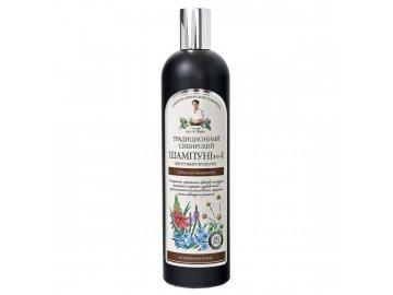 Tradičný sibírsky šampón na vlasy na báze kvetového propolisu č.4 – pre objem a krásu vlasov - Babička Agafia - 550 ml