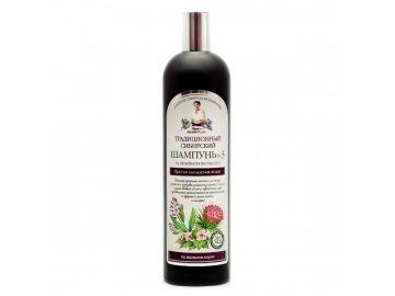 Tradičný sibírsky šampón na vlasy na báze lopuchového propolisu – proti vypadávaniu vlasov č.3 - Babička Agafia - 550 ml