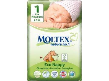 MOLTEX Nature no. 1 - Newborn 2 - 4 kg – jednorázové plienky - 23 ks