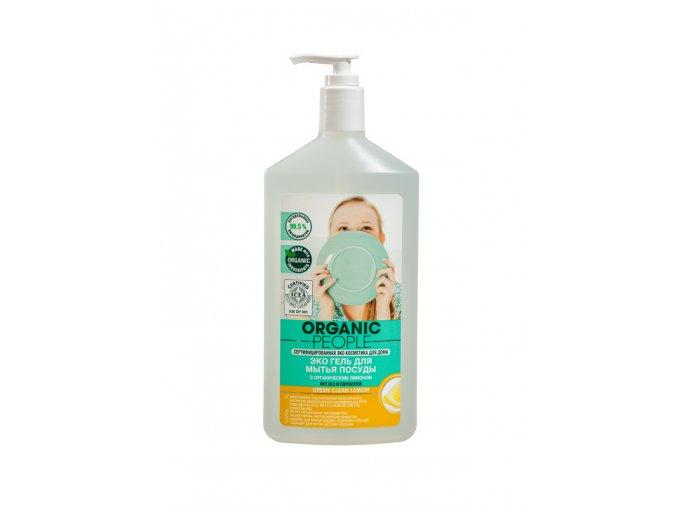 Organic People Eco gél na umývanie riadu s organickým citrónom Green Clean Lemon- 500ml