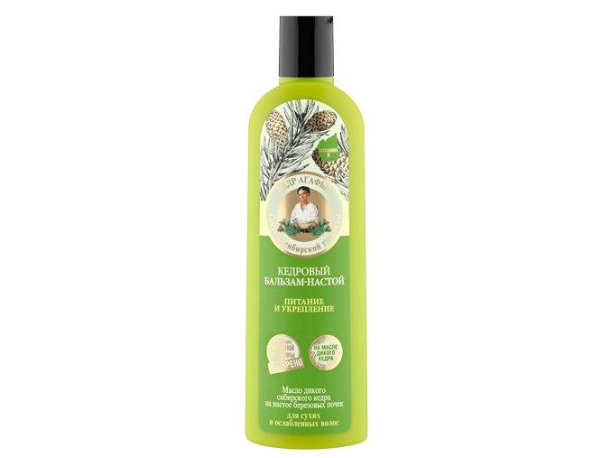 Babička Agafa - kondicionér pre suché a oslabené vlasy s cédrom - 280 ml