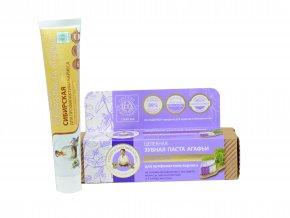 Babička Agafa Bio organická zubná pasta Babky Agafy prevencia vzniku zubného kazu - sibírska - 75 ml