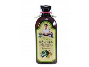 Babička Agafa Šampón med a lipa, na báze  mydlice lekárskej- 350ml